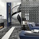 Кафель | Плитка настенная 25х75 Асуан | Asuan 5Д черный с рисунком, фото 3