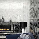 Кафель | Плитка настенная 25х75 Асуан | Asuan 5Д черный с рисунком, фото 4