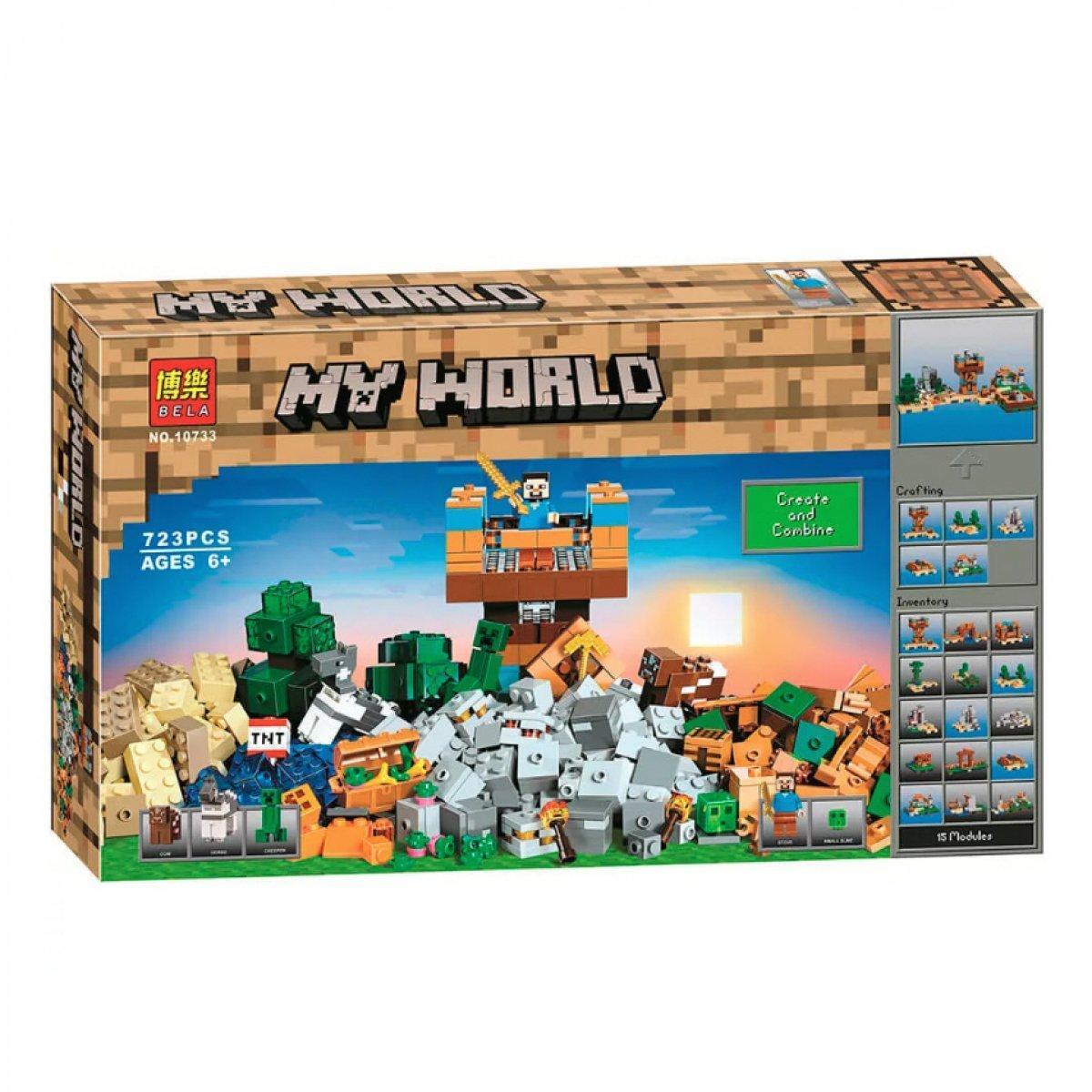 Bela My World 10733 Конструктор Крафт 2.0, Майнкрафт (Аналог LEGO 21135)