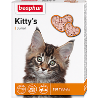 BEAPHAR Kitty*s Junior+Biotin, Беафар Джуниор, сердечки с биотином для котят, уп. 150 табл.
