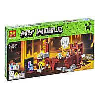 Bela My World 10393 Конструктор Подземная крепость Майнкрафт (Аналог LEGO 21122)