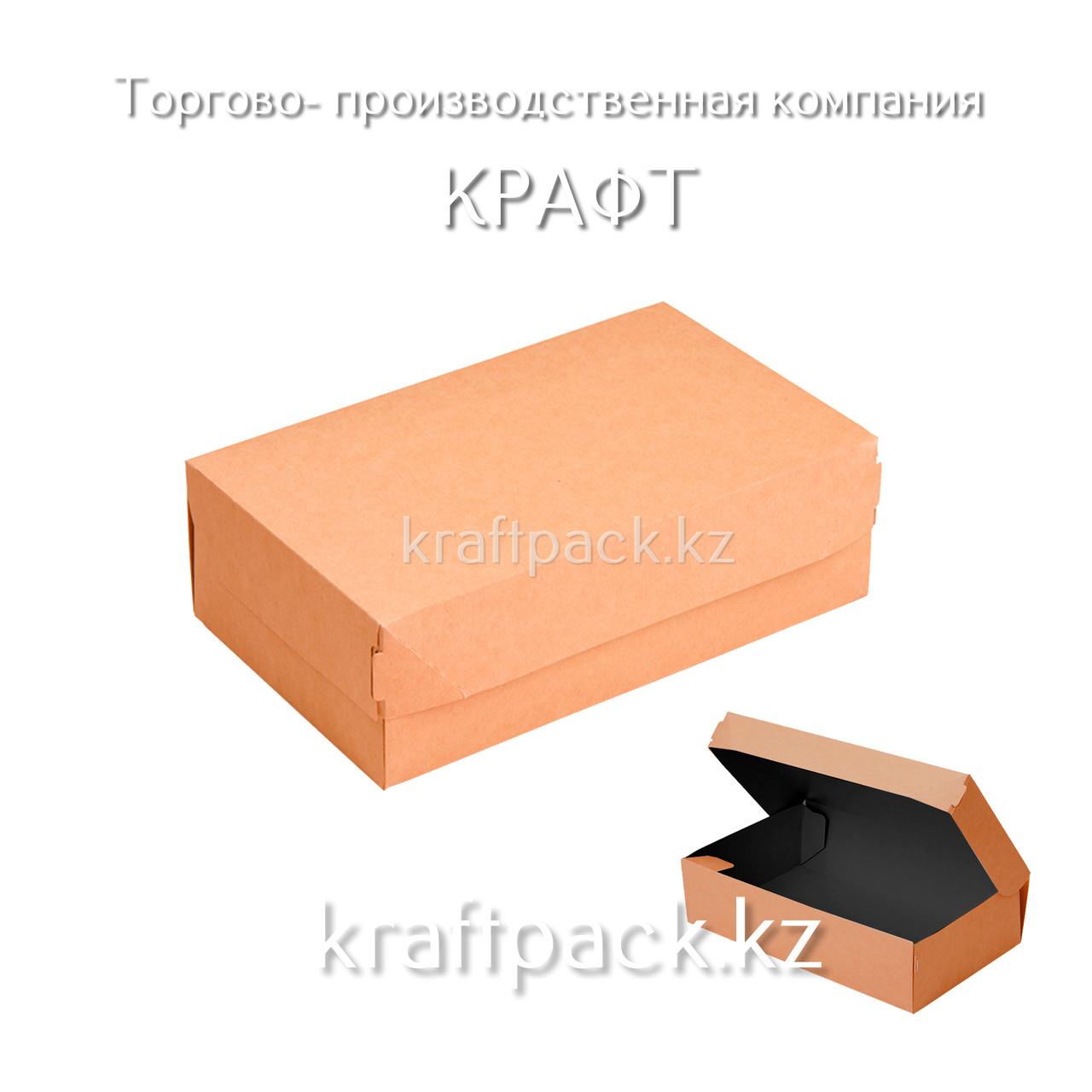 (Eco Tabox PRO 1450 BE) Коробка с окном 260*150*40 Black Edition DoEco (25/125)