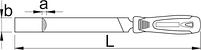Напильник полукруглый, бархатный с рукояткой - 761HS UNIOR, фото 2