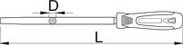 Напильник круглый, бархатный с рукояткой - 763HS UNIOR, фото 2