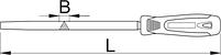 Напильник треугольный, бархатный с рукояткой - 764HS UNIOR, фото 2