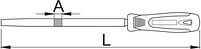 Напильник квадратный, бархатный с рукояткой - 765HS UNIOR, фото 2