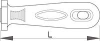 Рукоятка для напильников арт. 763, 764, 765, 769 - 766B UNIOR, фото 2