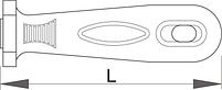 Рукоятка для напильников 763, 764, 765 для размера 100 мм - 766A1 UNIOR, фото 2
