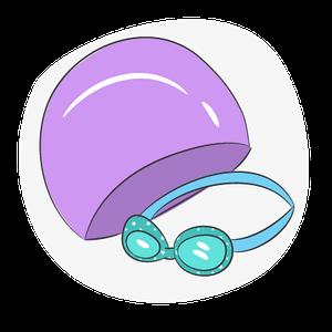 Очки и шапки для бассейна