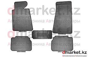 Коврики полики BMW E34, черные, резиновые, 5 предметов