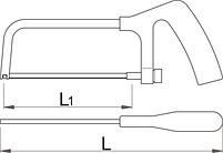 Ножовка по металлу малая - 753P UNIOR, фото 2