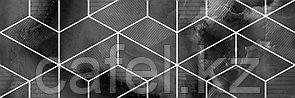 Кафель | Плитка настенная 25х75 Асуан | Asuan 5Д черный с рисунком