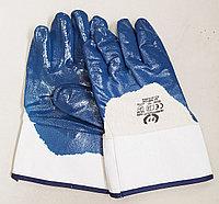 Перчатки с нитриловым покрытием, крага, полуобливные.