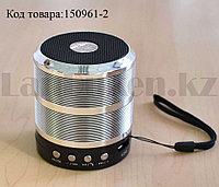 Колонка беспроводная Bluetooth-спикер мини для телефонов и портативных ПК (Серая)