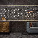 Кафель | Плитка настенная 25х75 Барселона | Barselona черный 5Д, фото 3