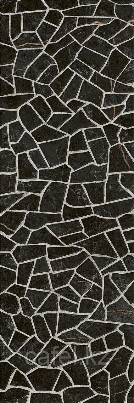 Кафель | Плитка настенная 25х75 Барселона | Barselona черный 5Д