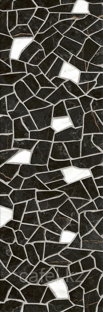 Кафель | Плитка настенная 25х75 Барселона | Barselona черный 5Д тип 1