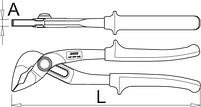 Клещи переставные универсальные с кнопкой, для безопасной работы на высоте - 447/1HPP-H UNIOR, фото 2