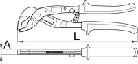 Клещи переставные автоматические HYPO, для безопасной работы на высоте - 442/1HYPO-H UNIOR, фото 2