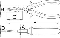Многофункциональные плоскогубцы электрика, для безопасной работы на высоте - 514/1BI-H UNIOR, фото 2