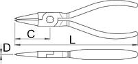 Съёмник внутренних стопорных колец с прямыми концами, для безопасной работы на высоте - 536PLUS/1DP-H UNIOR, фото 2