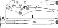 Тиски ручные универсальные, для безопасной работы на высоте - 429/3-H UNIOR, фото 2