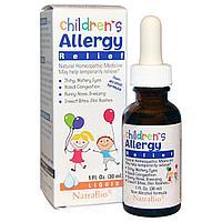 NatraBio, Средство против аллергии для детей, формула без спирта, жидкая форма (30 мл)