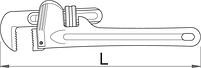 Ключ трубный (американский тип), алюминиевый, для безопасной работы на высоте - 492AL-H UNIOR, фото 2
