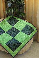 Одеяло детское в технике пэчворк Жайлау размер 100*100 ручная работа