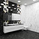 Кафель   Плитка настенная 25х75 Монако   Monaco черный 5Д, фото 2
