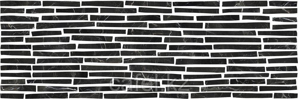 Кафель   Плитка настенная 25х75 Монако   Monaco черный 5Д