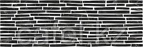 Кафель | Плитка настенная 25х75 Монако | Monaco черный 5Д