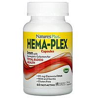 Nature's Plus, Hema-Plex,Мультивитаминный комплекс, 60 вегетарианских капсул быстрого действия