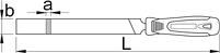 Напильник плоский, драчёвый с рукояткой, для безопасной работы на высоте - 760HB-H UNIOR, фото 2