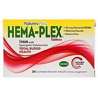 Nature's Plus, Hema-Plex,Мультивитаминный комплекс, 30 таблеток