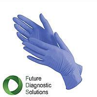 Перчатки витриловые (витрил) Голубые и сереневые