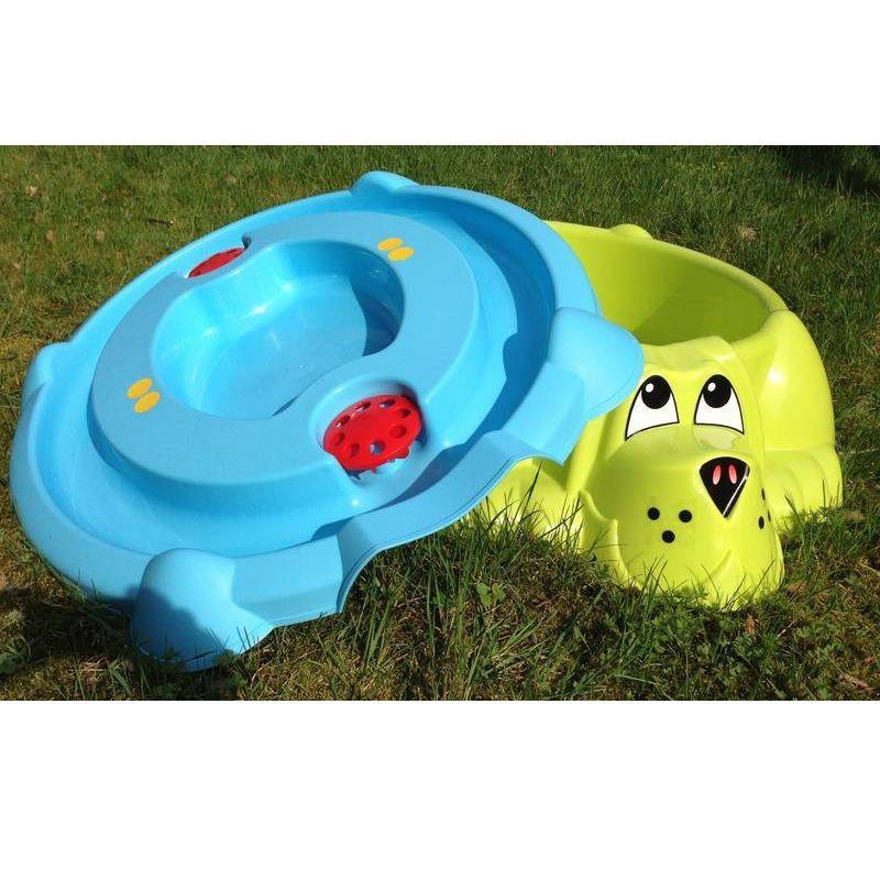 Песочница и детский бассейн Собачка с крышкой