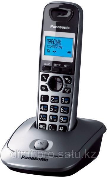 Радиотелефон Panasonic KX-TG2511RUM черный-серый
