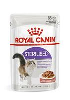 Royal Canin Sterilised в соусе, влажный корм для здоровья мочевыделительной системы стерилизованных кошек