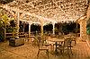 Оформление зонтиков в кафе ретро гирляндой, гирлянда для кафе, подсветка зонтиков в кафе., фото 8