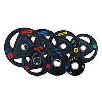 Диск олимпийский Fitnessport RCP-17 черный обрезиненный (25 кг)