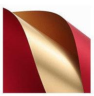 Пленка-бумага упаковочная. 0,58 * 0,58 м.. 20 ЛИСТОВ. Водонепрониц. Цвет - ЗОЛОТОЙ + БОРДОВЫЙ
