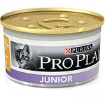 Pro Plan Junior для котят, паштет с курицей, банка 85гр.