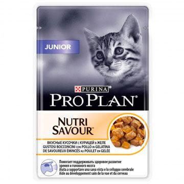 Pro Plan Junior для котят, курица в желе, пауч 85гр.
