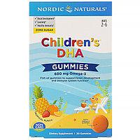Nordic Naturals, Children's DHA, жевательные таблетки с ДГК и Омега -3, 600 мг, 30 таблеток