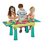 KETER Стол CREATIVE для детского творчества и  игры с водой и песком, Зеленый/Фиолетовый(79x56x50h) (KETER