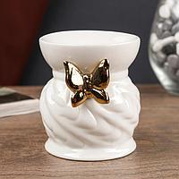"""Аромалампа керамика """"Золотая бабочка"""" 9х7,5х7,5 см"""