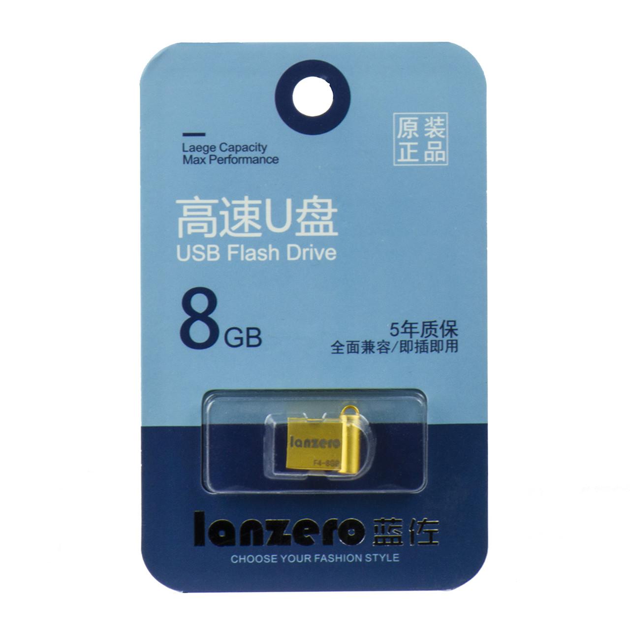 USB Flash 8Gb Lanzero mini F4, Gold