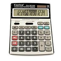 Калькулятор настольный офисный Cayina {14 разрядов, расчёт налога, 112 check & correct}