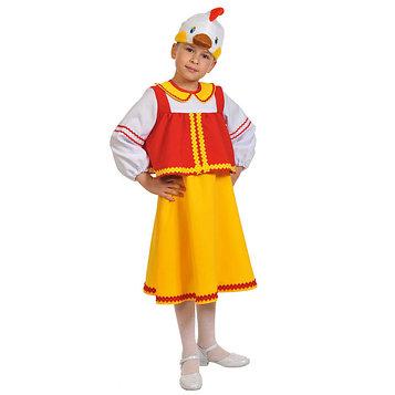 """Карнавальный костюм """"Курочка Ряба"""", маска, блузка, юбка, рост 98-128 см   8005"""